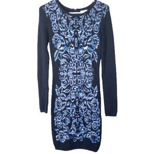 Artelier Nicole Miller Body Con Midi Knit Dress